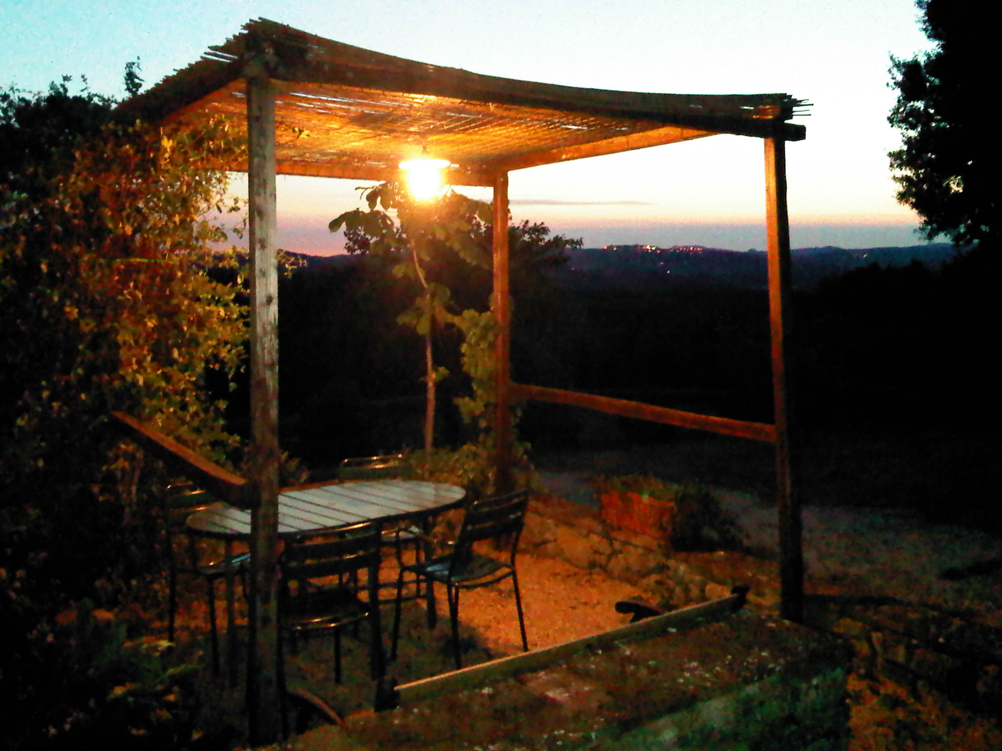 piccolo gazebo con vista panoramica